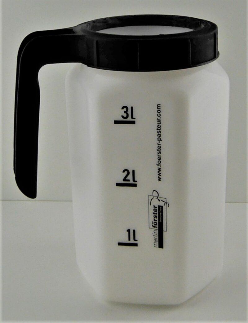 _1060689 Flasche mit Deckel Melken Hand hell leicht geneigt